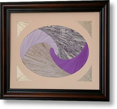 Metal Print featuring the mixed media Purple Passion by Ron Davidson