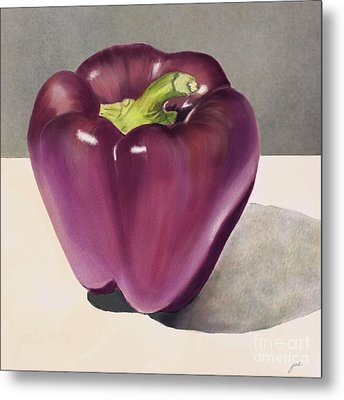 Purple Pepper Metal Print