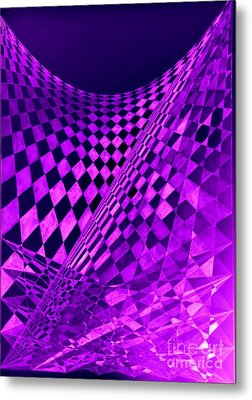 Purple Perspectives Metal Print by Sylvie Leandre