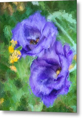 Metal Print featuring the painting Purple Petals by Ike Krieger