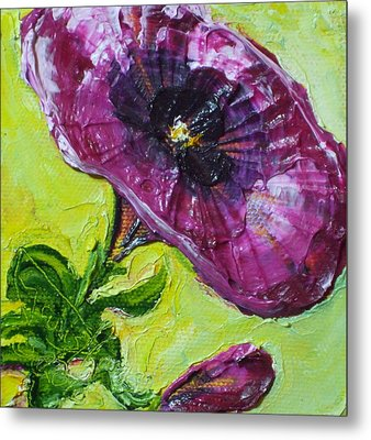 Purple Petunia Metal Print by Paris Wyatt Llanso