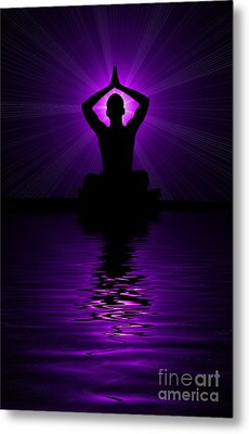 Purple Prayer Metal Print by Tim Gainey