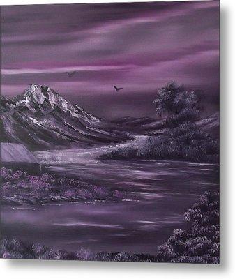 Purple Rain 2 Metal Print by Cynthia Adams