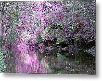 Purple Rock Reflection Metal Print