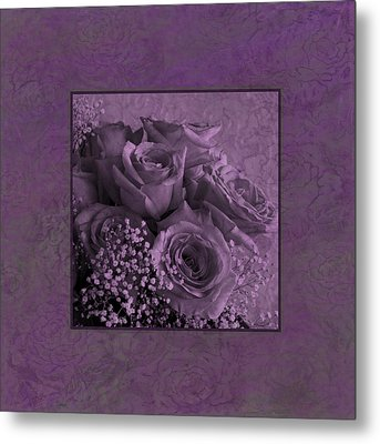 Metal Print featuring the photograph Purple Roses Delight by Sandra Foster