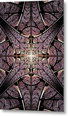 Purple Shield Metal Print by Anastasiya Malakhova