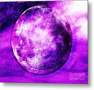 Purple Side Of The Moon Metal Print by Mindy Bench