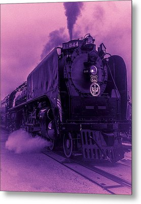 Purple Smoke Metal Print