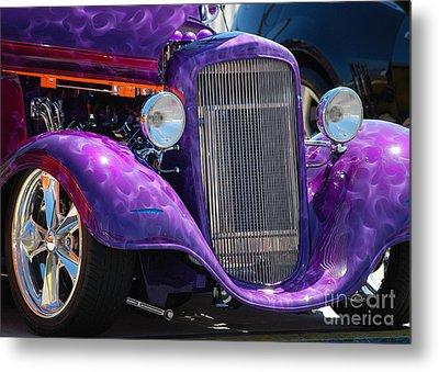 Purple Street Rod Metal Print