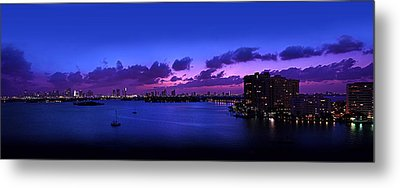 Purple Sunset Metal Print by Michael Guirguis