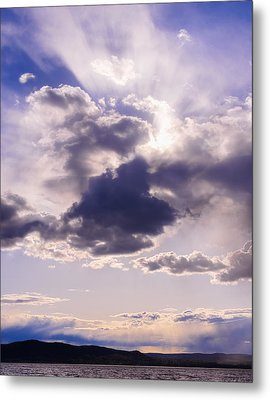 Purple Sunset On The Hudson River Metal Print by Marianne Campolongo