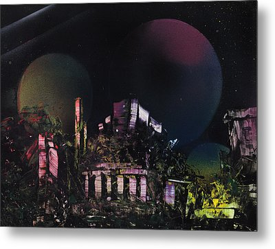 Purple Temple Metal Print by Mike Cicirelli
