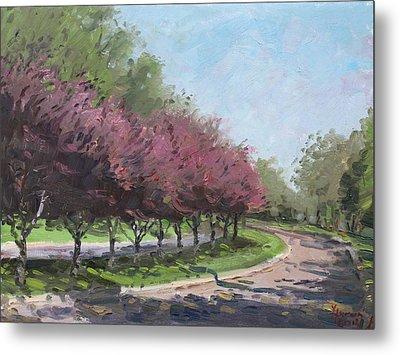 Purple Trees  Metal Print by Ylli Haruni