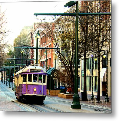 Purple Trolley Metal Print by Barbara Chichester