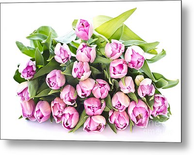 Purple Tulips Metal Print by Boon Mee