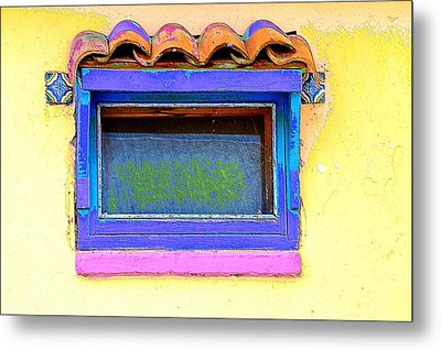 Purple Window Metal Print