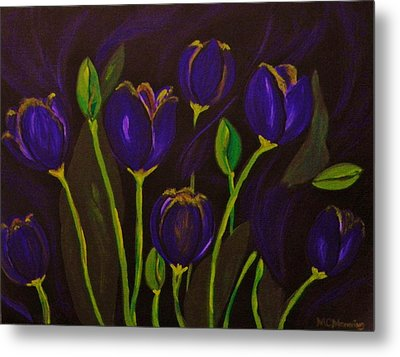Purpleluscious Metal Print by Celeste Manning