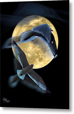 Pursuit Over The Moon. Metal Print