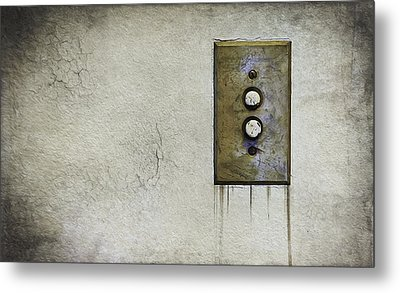 Push Button Metal Print by Scott Norris