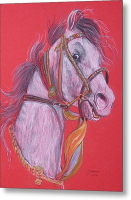 Metal Print featuring the pastel Puskar Fair by Janina  Suuronen
