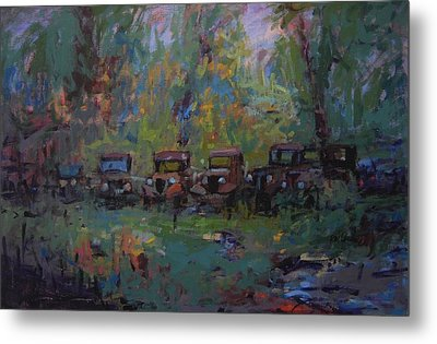 Put Out To Pasture Metal Print by R W Goetting