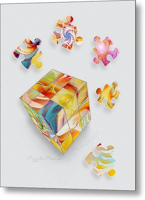 Puzzle Mania Metal Print by Gayle Odsather