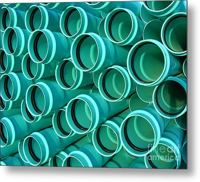 Pvc Pipes Metal Print by Olivier Le Queinec