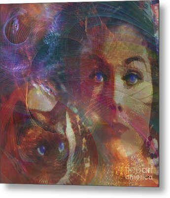 Pyewacket And Gillian - Square Version Metal Print by John Beck