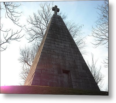 Pyramid At Dusk Metal Print by Christophe Ennis