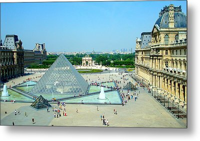 Metal Print featuring the photograph Pyramid At The Louvre by Kay Gilley