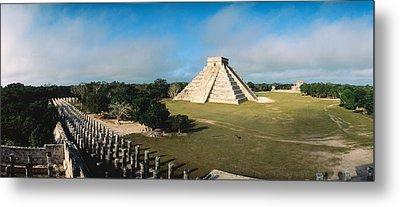 Pyramid Chichen Itza Mexico Metal Print