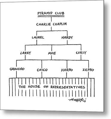 Pyramid Club Metal Print
