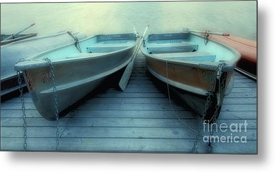 Pyramid Lake Row Boats Metal Print by Bob Christopher