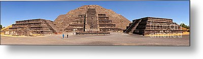Pyramid Of The Moon Panorama Metal Print by Sean Griffin