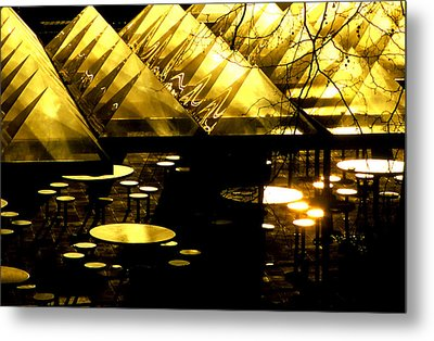 Pyramids And Saucers Metal Print