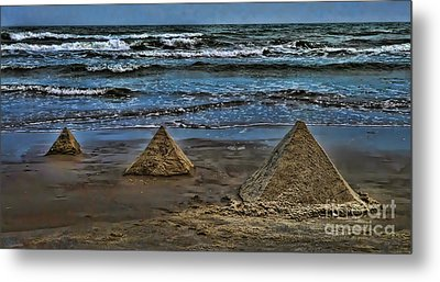 Pyramids Metal Print by Jeff Breiman