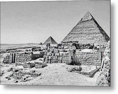 Pyramids  Metal Print by Karam Halim