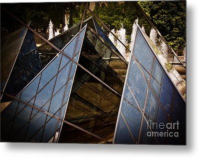 Pyramids Reflected Metal Print by Tom Gari Gallery-Three-Photography