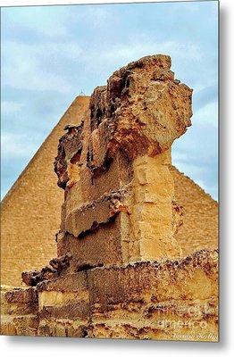 Pyramid's Temple  Metal Print by Karam Halim