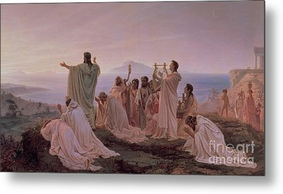 Pythagoreans' Hymn To The Rising Sun Metal Print by Fedor Andreevich Bronnikov