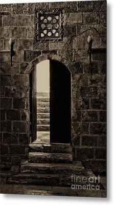 Qalawun Doorway Cairo Metal Print