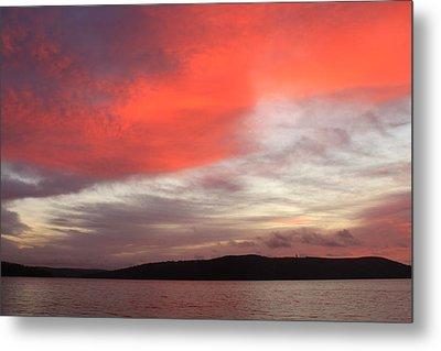 Quabbin Reservoir Sunrise Over Quabbin Hill Metal Print by John Burk