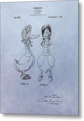 Quacky Doodles Patent Metal Print by Dan Sproul