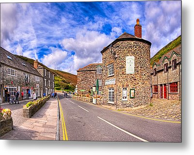 Quaint Cornwall In The Little Village Of Boscastle Metal Print by Mark E Tisdale