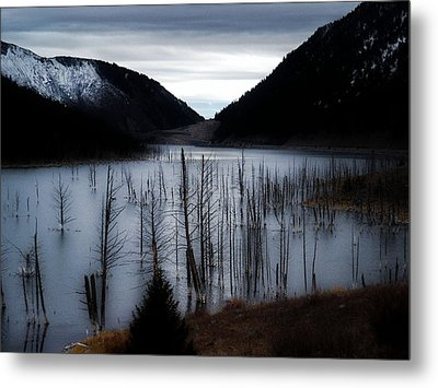 Quake Lake Metal Print
