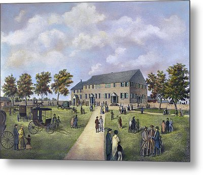 Quaker Meeting House, 1857 Metal Print