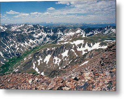 Quandry Peak 14264 Metal Print by Robert VanDerWal