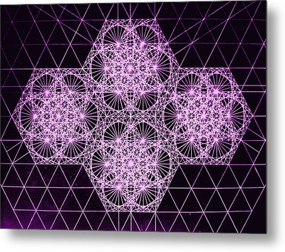 Quantum Snowfall Metal Print by Jason Padgett