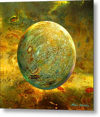 Quantum Soul...orb Of Light Metal Print
