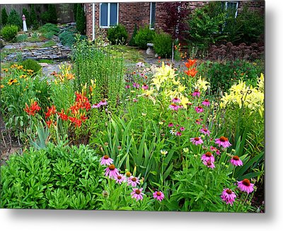 Metal Print featuring the photograph Quarter Circle Garden by Kathryn Meyer